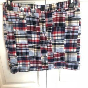 Ann Taylor loft plaid patchwork skirt